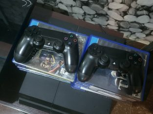 PS4 Console with games – perfect working condition