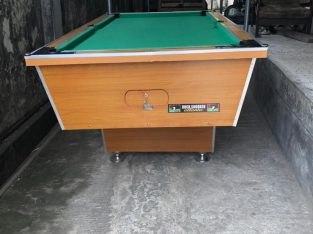 SNOOKER, POOL BOARD WITH FULL ACCESSORIES